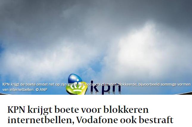 Volkskrant article header 27 Jan 2015