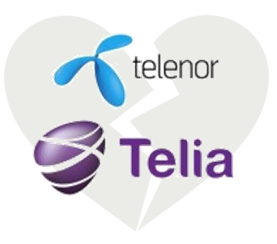 Telenor Telia heart2