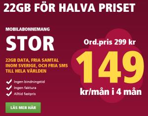 Hallon 22 offer
