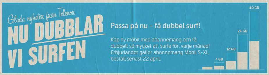 Telenor Sweden doubling Mar 2015