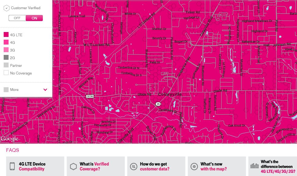 T-Mobile US coverage map