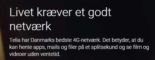 Denmark's best 4G network