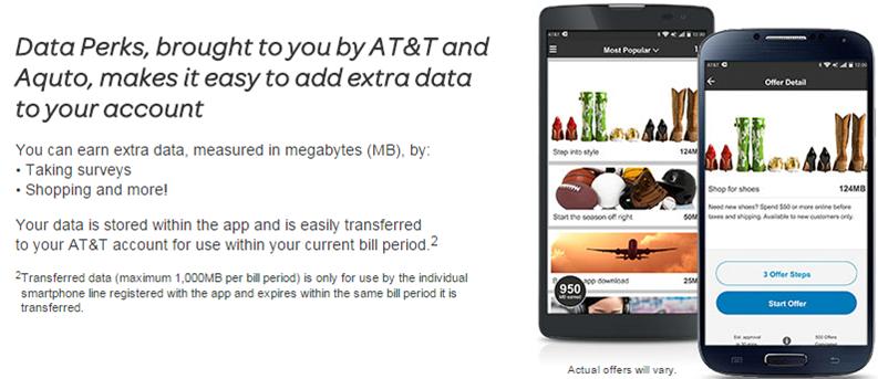 AT&T data perks