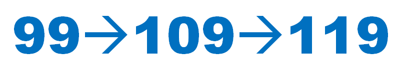 99 109 119